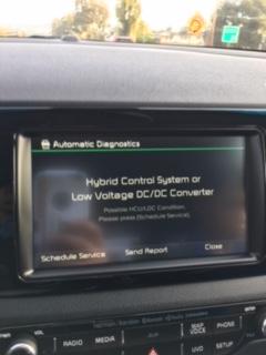 Check Hybrid System  Turn off Engine MESSAGE?!?!?!?! - Kia