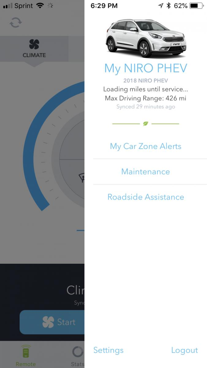 UVO eServices app - Kia Niro Forum